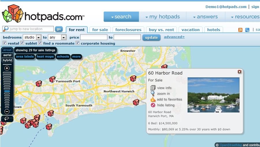 Cape Cod Luxury Real Estate Map