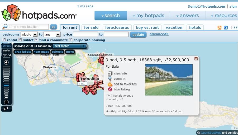 Hawaii Luxury Real Estate Map