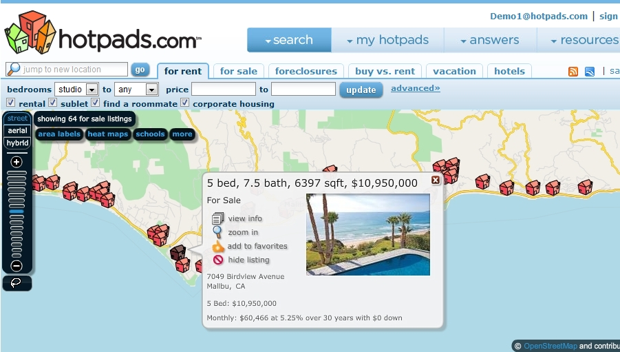 Malibu Luxury Real Estate Map